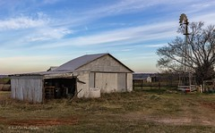 Early Morning (Kool Cats Photography over 10 Million Views) Tags: barn building windmill trees grass scenic sky clouds oklahoma