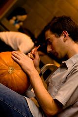 PumpkinParty.021.jpg (Jeremy Caney) Tags: jackolanterns halloween pumpkincarving houseparties parties david pumpkins