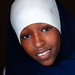 Portrait of a somali young woman in white hijab, North-Western province, Berbera, Somaliland