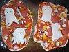 Ghost Pizza (Pictures by Ann) Tags: countdowntohalloween halloween holiday familytradition activities fun homemadepizza homemade pizza ghost cheese melted baked pepperoni vegetables