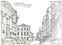 Liège, rue Féronstrée (gerard michel) Tags: belgium liège architecture rue sketch croquis