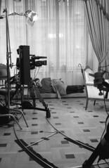 Sound producer (2478255) Tags: film rangefinder television metropol hotel work russia24 leicam4 minoltamrokkor40mmf2 epsonv600 ilfordhp5 ilfotechc d76