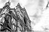 7DWF -  B&W  ...  il ghibellin fuggiasco ... (miriam ulivi - OFF /ON) Tags: miriamulivi nikond3200 italia toscana firenze piazzasantacroce basilicadisantacroce statuadidantealighieri bn bw architecture cielo sky nuvole clouds