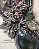 "(""Sharayah Sheldon"") Tags: lordoftherings raku handmadejewelry beadembroideredjewelry 4uidzne beadembroidery beadwork forest lorthlorien rivendell"