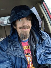 April 6: Rainy day self (earthdog) Tags: 2018 googlepixel pixel androidapp moblog cameraphone self selfie armslength face hood rain earthdog project365 3652018