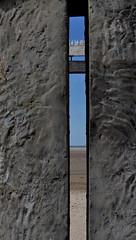 Doors of perception (johan van moorhem) Tags: belgium belgique belgië flanders vlaanderen westvlaanderen belgiancoast belgischekust beaufort zeebrugge beach strand