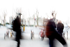 ... (Michael Lee - mplee.com) Tags: icm overexposed abstract abstracted nophotoshop incamera mplee movement blur drag texture motion white tower london figure bike city street