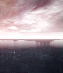 Merge (Stachmoon) Tags: merge mind path thalamus reshade ice ocean sky winter serenity digital art