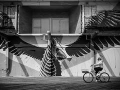 (the look) ride,ride - Asbury Park Boardwalk (Steve Stanger) Tags: asburypark asburyparknj asbury streetphotography street streetscene boardwalk shore njshore jerseyshore olympusomdem10markii olympusm1442mmf3556ez olympus blackandwhite bw silverefexpro