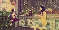 Small talk at cafeteria (ecerinei) Tags: coco reign nomatch sense blueberry emery bueno stealthic zaara ~nerido~ deadwool glamrus minimal soy {whatnext} jian vespertine applefall bauwerk botanical pseudo