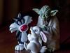 Bunny tale (verona39) Tags: macromondaysplasticwarsstaryodasylvestercat miniature toys yoda sylvester baby bunny plastic mini