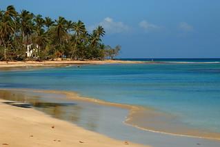 Lone Beach in El Portillo, Samana Peninsula, Dominican Republic