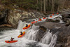Whitewater Canoe Sequence Composite (Brad Lackey) Tags: babyfalls tellicoriver tellicoplains tennessee cherokeenationalforest appalachianmountains whitewater canoe kayak houcanoes paddling outdoorsy winter roadtrip sequence composite photoshop photoediting nikon1680mm d7200