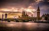 Big Ben (E&R's) Tags: uk london bigben thames europe sunset yellow dramatic time dusk blue nikon dslr nikorr