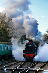 Steam (Beardy Vulcan) Tags: hampshire england autumn fall december 2016 christmas chrimbo xmas santaspecial heritagerailway railway watercressline midhantsrailway steam