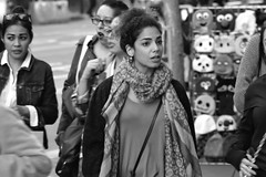 People on Market St 58 (TheseusPhoto) Tags: bnw blancoynegro blackandwhite sanfrancisco people monochrome monotone noir streetphotography street candid woman
