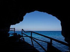 Inside Blue cave (tanya.mesch) Tags: vacation zakhyntos 2017 greece sea seaside beautiful places island people nature bluewater waves caves plants boats turtles