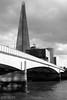 London Bridge and The Shard (lee adcock) Tags: fujinon1650 fujixe2 london the shard bridge blackandwhite mirrorless