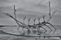 Sun Voyager (Ralph J Clark) Tags: sunvoyager sculpture reykjavik iceland mono silverefexpro