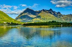 the wild north (werner boehm *) Tags: wernerboehm lofoten berge fjord spiegelung norway norwegen