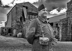 Home Guard (Photography by Peter Stanford) Tags: war home guard mono black white polish edinburgh coal mine