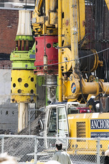 Caisson drilling at 1 Bloor W. (jer1961) Tags: toronto drill drilling excavation caissondrilling caisson anchorshoringcaissons anchorshoring onebloorwest 1bloorw theone theonecondos