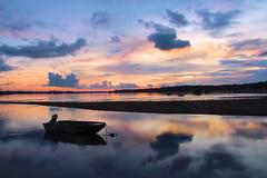 Sunset in Sanur (MrCrisp) Tags: bali nyepi sanur sunset colour indonesia landscape sky boat water