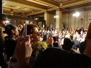 Crowds at LFW Fortie Label Fashion Show AW18 at Freemasons Hall, London