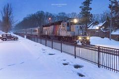 Mountain Lakes NJT #train 1095 (bozartproductions) Tags: snow new jersey transit mountain lakes diesel engine railroad train