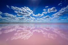 Reflections of Los Coloradas (DSC6774) (DJOBurton) Tags: yucatan pink pinklakes lascoloradas mexico