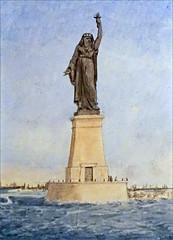 Le projet de phare de Suez par A. Bartholdi (Institut du Monde Arabe, Paris)