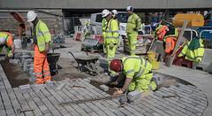 DSC05571  Men at work. (Seaton Carew.) Tags: workinghard endinsight grafting highviz paving doingagoodjob forthepeople menatwork