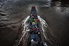 Fishermen traveling on the black water of Mekong delta (rvjak) Tags: bentre vietnam asia asie southeast sudest d750 nikon boat river delta water eau pêcheur fishermen people men hommes