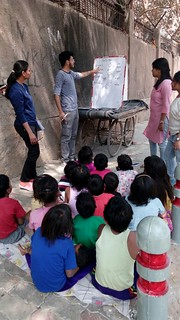 Volunteers teaching at various locations in Delhi and NCR (1st April 2018).