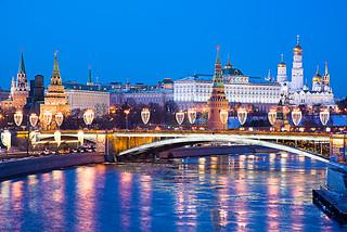 Bolshoy Kamenny Bridge and kremlin from Patriarshiy Most