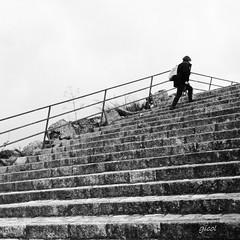 I climb alone (gicol) Tags: scale scalone scalini escalera stair stairway climb salire subir cielo sky matera basilicata mt lucania italy italia