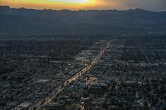 Sunset over Vegas (ap0013) Tags: sunset las vegas city cityscape aerial stratosphere mountain desert lasvegas lasvegasnevada