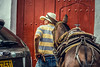 All you need for happiness is a good gun, a good horse, and a good wife. (Just lovin' it) Tags: horse caballo cowboy town colombia