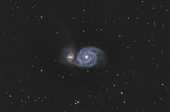 M51 Whirlpool Galaxy (Phil Ostroff) Tags: m51 galaxy whirlpool astronomy astrophotography telescope astrometrydotnet:id=nova2505509 astrometrydotnet:status=solved
