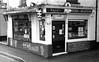 Reed's Butchers, Braunton, Devon. (PetePhoto61) Tags: kodak hc110 zorki zorki4k braunton devon reeds trix bw butchers meat sausages britishmeat pies bacon pasties cheese fish eggs