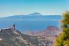 Cumbres: Roque Nublo y Teide. (manuel.guerra) Tags: roquenublo picodelasnieves teide paisaje vegadesanmateo canarias españa es
