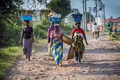 On the way to Lake Burera, Ruhengeri, Rwanda, June 2017 (Catherine Gidzinska and Simon Gidzinski) Tags: 2017 africa eastafrica june ruherengi rwanda ruhengeri northernprovince rw laundry colourful village 7dwf street road town ngc