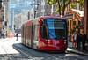 Sydney Light Rail - LRV2124 heads for Central along Hay Street (john cowper) Tags: sydneylightrail haystreet haymarket lrv2124 centralrailwaystation urbos3 sydney newsouthwales