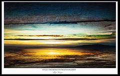 Kill the Boredom! (Kyle TKT) Tags: beach wood sky sunset strangfordlough scrabotower newtownards texture clouds grain water sand sea overlay photoshop arty ocean tower