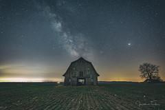 Barn Under the Stars (Jonathan Tasler) Tags: barn stars milkyway night field tree boonecounty
