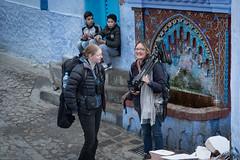 Nikki and Janet (ipin-by-the-sea) Tags: birds birding morocco nikki janet ingloriousbustards chefchaouen bluecity boys