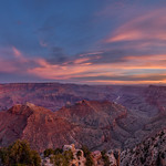 View of the South Rim of the Grand Canyon at sunrise from Navajo Point, Grand Canyon National Park, Arizona thumbnail
