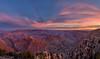 View of the South Rim of the Grand Canyon at sunrise from Navajo Point, Grand Canyon National Park, Arizona (diana_robinson) Tags: pano panorama desertviewwatchtower southrim grandcanyon pinkclouds softlight canyon sunrise navajopoint grandcanyonnationalpark arizona