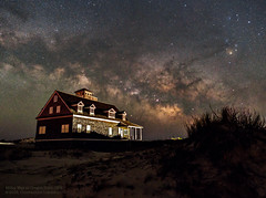 Milky Way at Oregon Inlet OBX (Constantine L.) Tags: dunes night stars milky way galaxy outer banks obx north carolina astroscape nightscape starscape astrophoto astrophotography nature universe outdoor constellation scorpius rho ophiuchi house canon 6d samyang 24mm ioptron startracking
