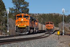 BNSF 9033 USAFA 3 Mar 18 (AK Ween) Tags: bnsf bnsf9033 emd sd70ace airforceacademy usafa colorado jointline train railroad